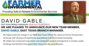 David Gable Farmer Environmental branch manager