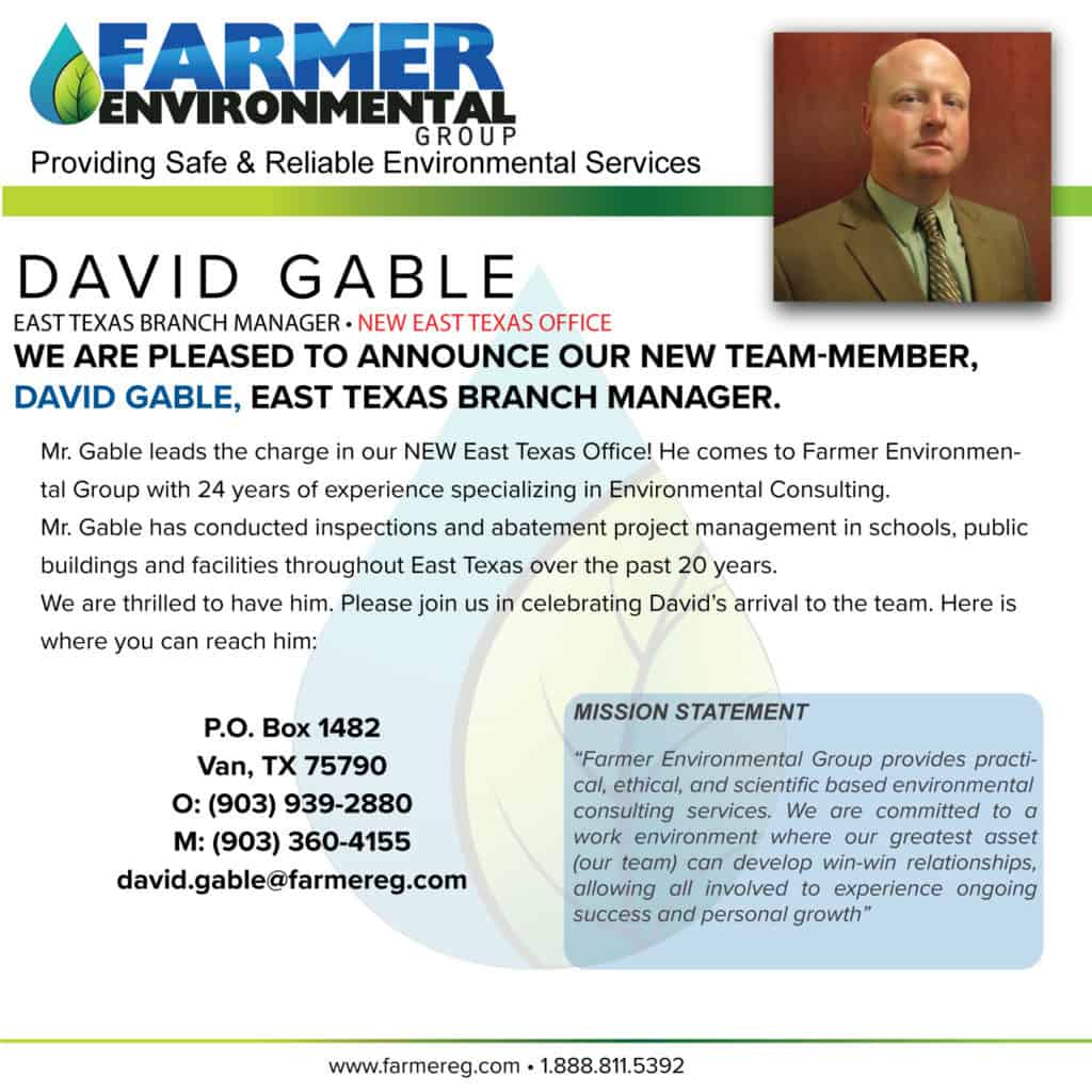 Announcing Our New East Texas Branch Office and Branch Manager!