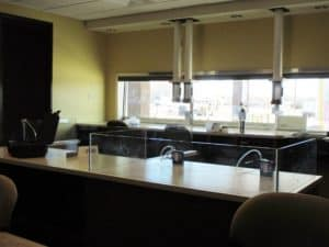 clean and tidy medical testing office