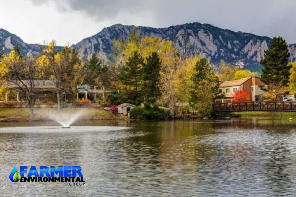 farmer project on environmental remediation beside the lake of boulder colorado
