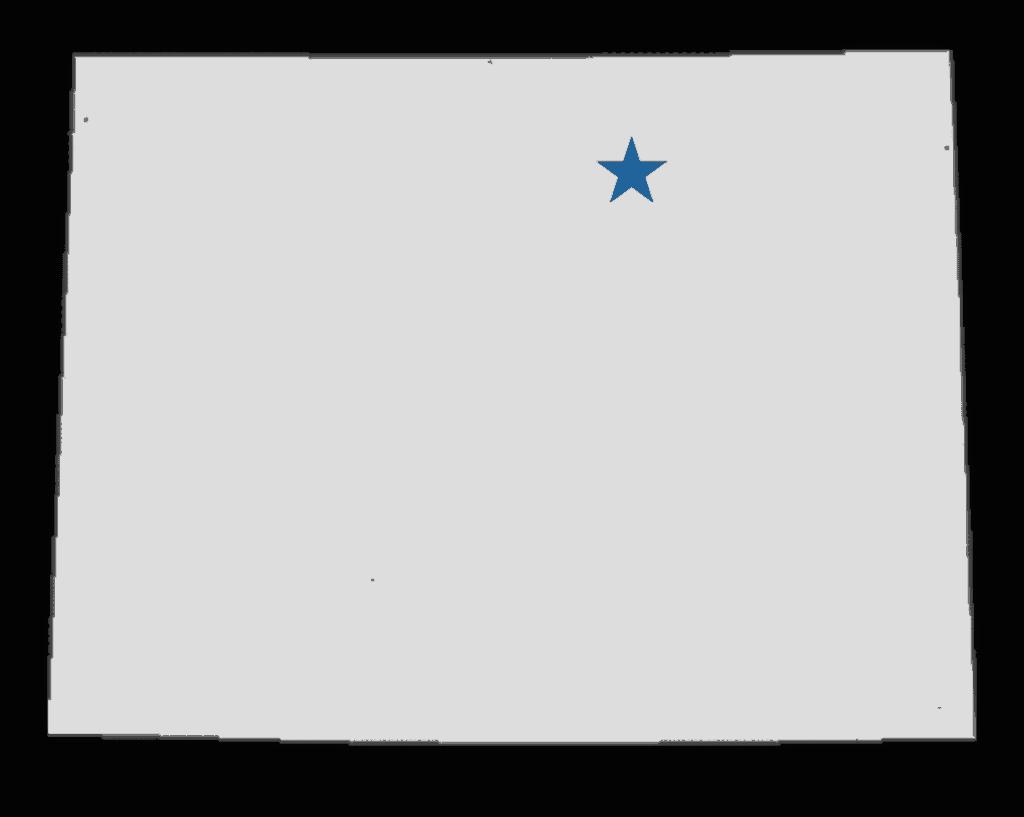 Farmer Colorado in the US map